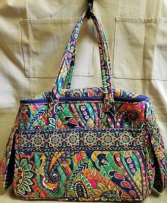 Vera Bradley Paisley Pet Carrier Tote W Name Tag Holder 15 lb