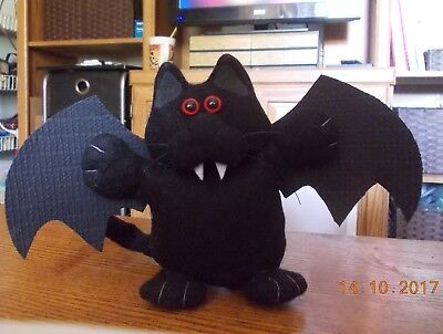 CAT-felt chubby black cat bat Halloween decoration-CPH art