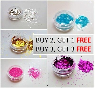 Cosmetic Glitter Pot for Face, Body, Nails. Select your Colour and Flake size