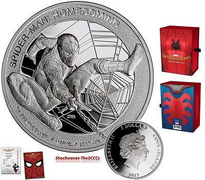 2017 Silver SPIDER-MAN Homecoming Coin  -  SALE 10%