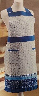 NWT Better Homes and Gardens Pretty Blue Kitchen Apron Great Gift