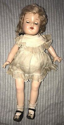 """30's Shirley Temple Doll Madame Alexander Composition 20"""" Little Colonel Dress"""