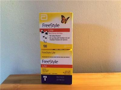 200 New Freestyle Lite Glucose Test Strips Exp: 02/2018