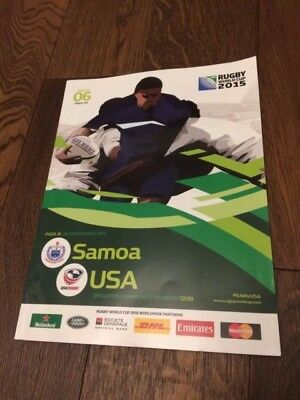 Samoa V Usa Rugby World Cup 2015- Official Programme