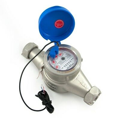 One Inch Water Meter - Pulse Output - Stainless - Threaded Adapters - #50