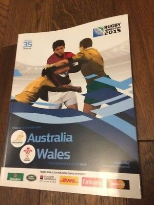 Australia V Wales-Rugby World Cup 2015- Official Programme