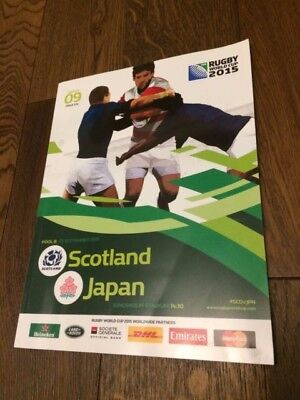 Scotland V Japan-Rugby World Cup 2015- Official Programme