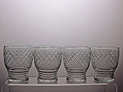 Crystal Cut Glass Tumblers Drinking Glasses Set Of 4
