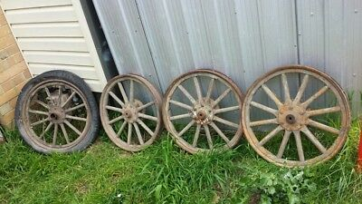 VINTAGE MODEL T FORD WHEELS $120:00 the lot