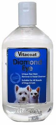 Vitacoat Diamond Eyes - tear stain remover & facial cleanser for cats & dogs.