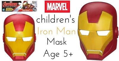 Iron Man Mask Children's Age 5+ New With Tags Free Delivery Marvel Avengers