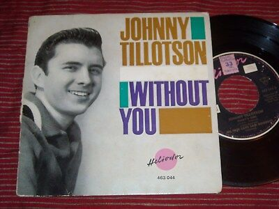 Johnny Tillotson - Without You , German Ep Rockabilly Heliodor Rock N Roll