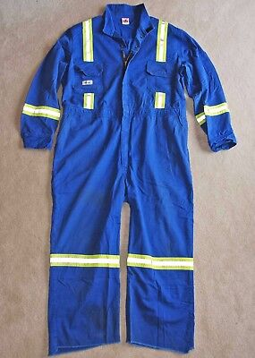 60Tall COVERALLS FR Flame Resistant Work Industrial reflective Stripes Hi Vis