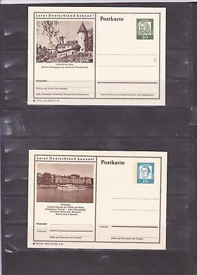 1213 Germany Post Card Deutsche Bundes Republik Post Postkarte New Unused X4