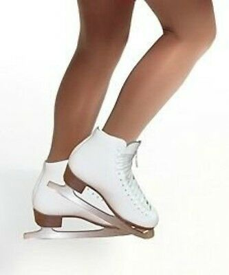 Footed Ice Roller Skating Dance Tights Various Sizes Natural Tan 70 Denier