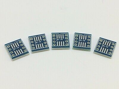 5x Breakout Board für DIL8-IC-SMD | Adapter Platine,SOIC,SOT,SOP