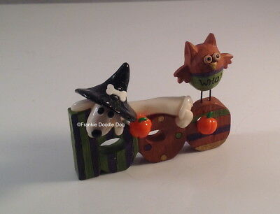 #3,192 FRANKIE DOODLE DOG! Glow-in-the-dark Clay Dachshund on Little Boo Sign