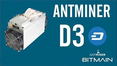 ANTMINER D3 - 15GH/s DASH - NOW $2200 - USA VERIFIED SELLER - FREE PSU INCLUDED!