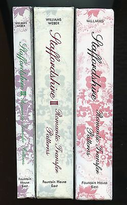 Staffordshire Pottery Transfer Patterns Cup Plates China / NEW 3-Volume Book Set