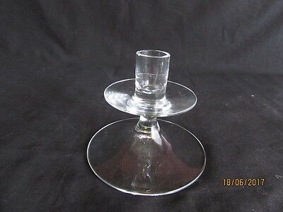 Pretty Lead Crystal Glass Candle Holder
