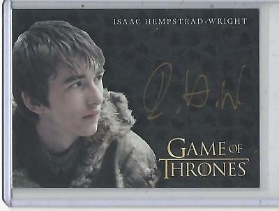 Game of Thrones Valyrian Steel Isaac Hepstead-Wright GOLD autograph #2