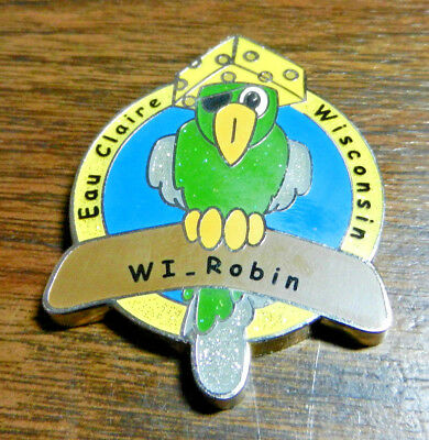 MWGB 2008 Cheese Head Parrot Geocoin - WI Robin