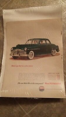 Chrysler Plymouth Ad in plastic
