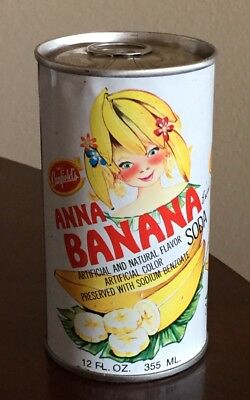 Vintage Canfield's Anna Banana Pull Tab Soda Can