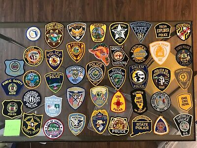 Lot Of 43 Assorted State Police Patches Florida Maryland Maine Texas Seminole Et