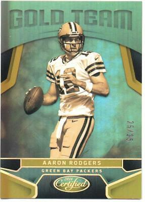 2016 Panini Certified Gold Team Aaron Rodgers #25/25 Packers