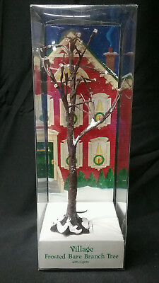 VILLAGE FROSTED BARE BRANCH TREE WITH 25 LIGHTS - Dept 56 - 52434 - new