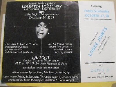 Rare Two Sided Poster/flyer Salsoul Artist Loleatta Holloway - Loose Joints