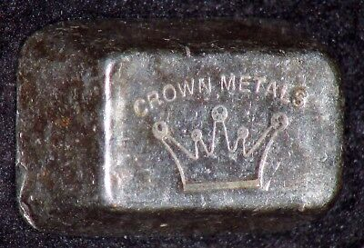 ULTRA RARE Crown Metals 5 oz poured .999 Silver Bar ONLY ONE ON EBAY!!