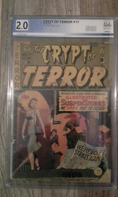 Crypt of Terror #17 PGX 2.0 CR/OW HARD TO FIND Johnny Craig Werewolf Cover