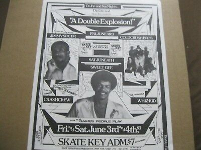 Rare Hip Hop Flyer Cold Crush Bros -Crash Crew - Whiz Kid-Jimmy Spicer.buddy Esq