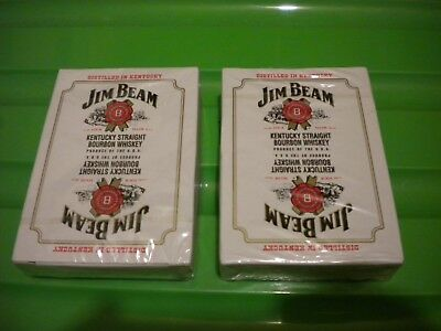 2 Packs Of Jim Beam Playing Cards - New