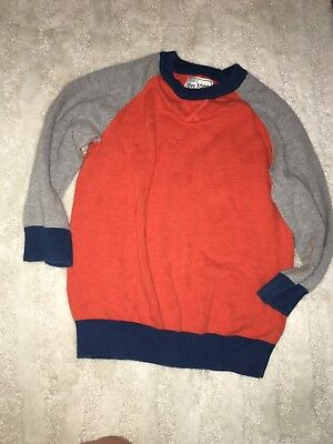 Children's Place 4T Toddler Boys Sweater Orange Gray And Navy Blue