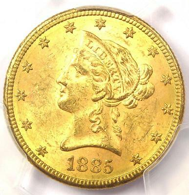 1885-S Liberty Gold Eagle ($10 Coin) - PCGS MS63 - Rare in MS63 - $3,000 Value!