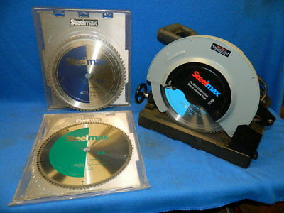 """Steelmax S14 Dry Metal Cutting Saw 14"""" with 3 Carbide Tipped Blades"""