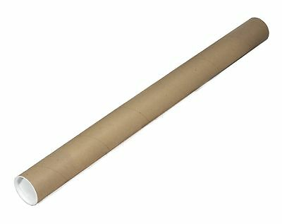 """EcoBox 2"""" x 24"""" Kraft Mailing Tubes with End Caps"""