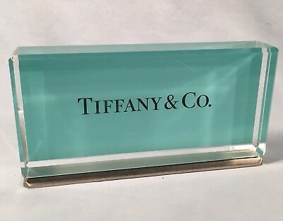 TIFFANY & CO. ADVERTISING Plaque / Store Display, Tiffany Blue