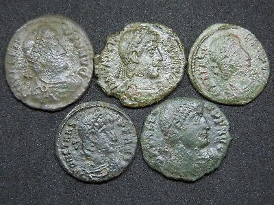 Roman coins lot of 5.