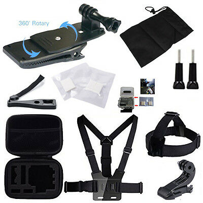21-in-1 Strap Bundle Combo Kit Travel Accessories Set for GoPro Hero 1 2 3 3+ 4