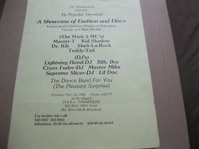 Rare Hip Hop The Mark 5 M.c.'s - D.j.billy Boy - Master Mike - Teddy Ted