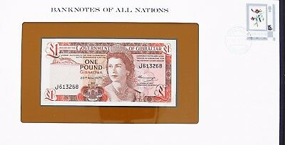 Gibraltar 1975 - One Pound - P120 - Cu - Banknotes Of All Nations 7349
