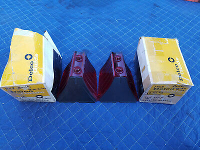 Pair of (2) NOS 1958 Buick Tail Light Lenses 40 & 60 Series 5949418 Delco Guide