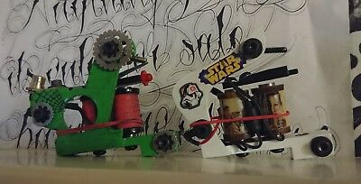 Custom Liner and Shader set with Eikon Tru-Spring Systems Coil Tattoo Machines