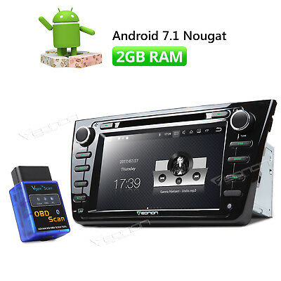 """Android 7.1 8"""" Car Stereo GPS 1024*600 HDMI 2GB for Mazda 6 CD Player + OBD2 W"""