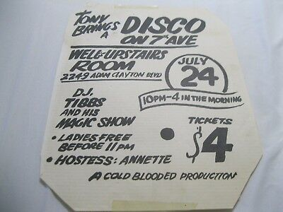 Rare Hip Hop Tony Disco 7 Ave Harlem Ny D.j.tibbs - Cold Blooded Production 197?
