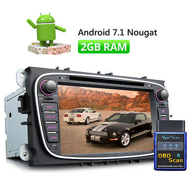"""7"""" TFT Android 7.1 Car DVD GPS Bluetooth HDMI 16GB ROM for Ford Mondeo + OBD2 W"""
